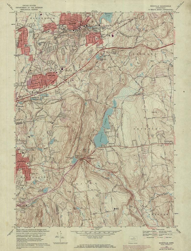 Rockville Quadrangle 1972 - USGS Topographic Map 1:24,000 ...