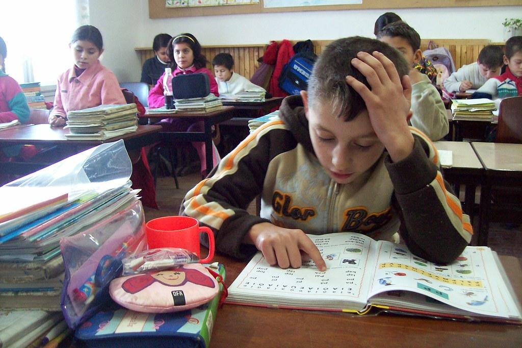 Kinder Garden: Roma Children At School In Nagybereg,Ukraine