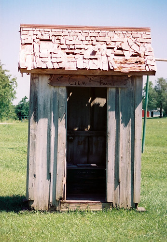 Outhouse Pershing/Prairie Gem Outhouse, Elk Falls, Kansas | by Cali2Okie (April)