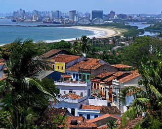 in Olinda with Recife skyline | by Zé Eduardo...