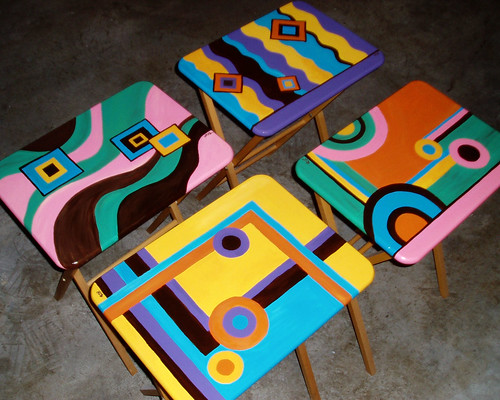 70s Style TV Trays | by CrAftyCamiLLe