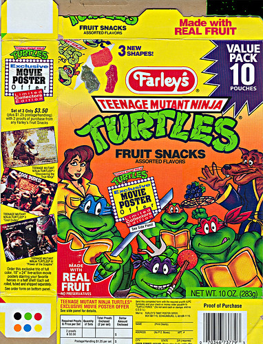 farley u0026 39 s  u0026quot teenage mutant ninja turtles u0026quot  fruit snacks