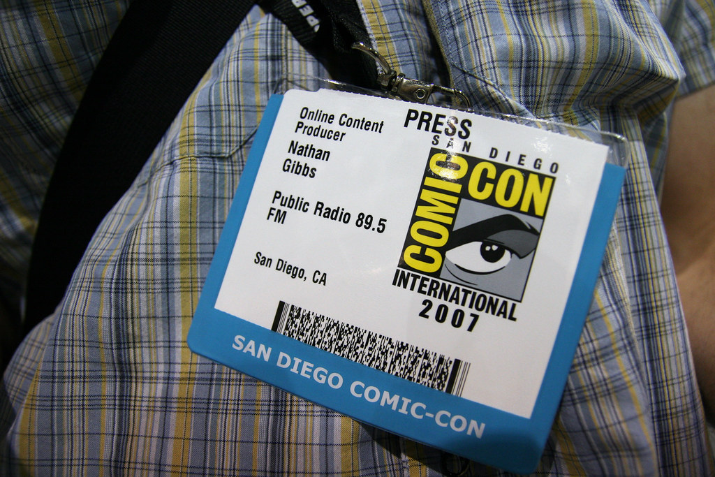 Comic con press badge i ll be shooting at comic con this w