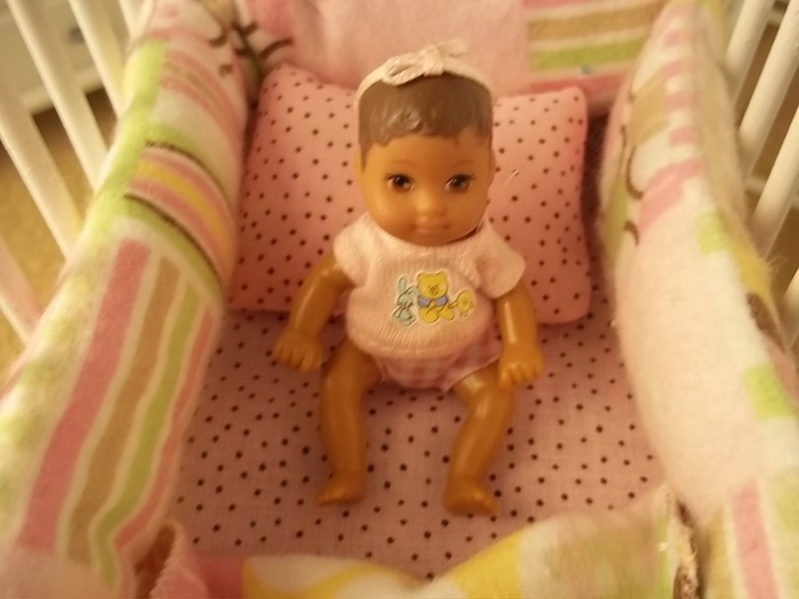 Pink Barbie Baby Crib8 Handmade Crib Perfect For All