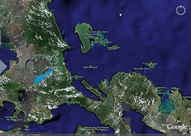 Balesin Island Location Google Earth Map Mr Minton