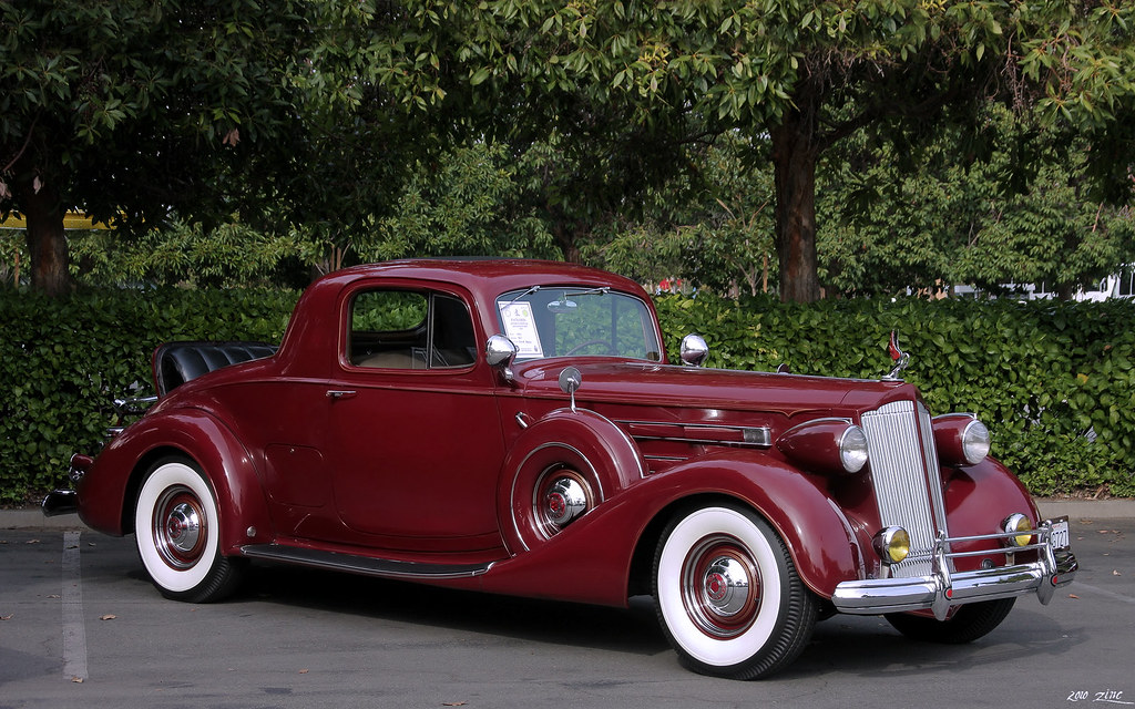 1937 packard 12 1507 coupe indian maroon fvr packard for 1937 packard 3 window coupe