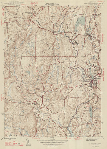 Danielson Quadrangle 1946 - USGS Topographic 1:31,680 | by uconnlibrariesmagic
