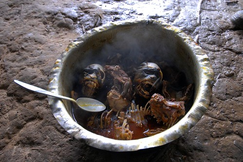 Congo: Lunch on the road - monkey stew | by InternationalRescueCommittee