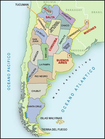 Mapa De Las Províncias Argentinas Map Of Argentine Provin Flickr - Argentina map with provinces