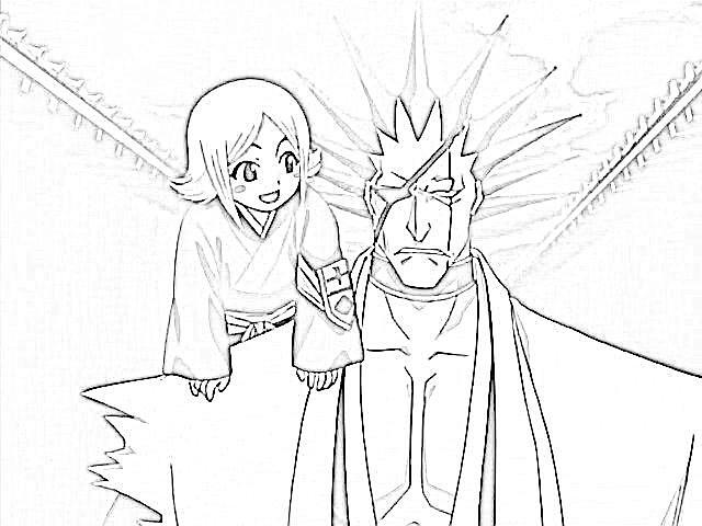 Kenpachi And Yachiru Drawing