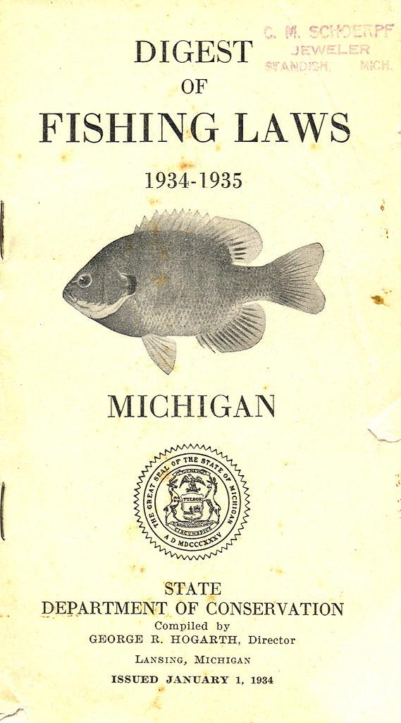 1934 michigan fishing license guide 1934 michigan for Michigan fishing license online