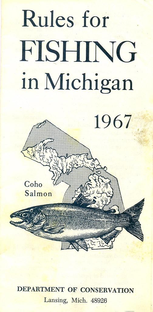 1967 michigan fishing license guide 1967 michigan for Fishing license mi