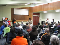 """Speak out at Neighborhood Parks Council """"Town Hall"""" at Hall of Flowers, 10/30/2010, San Francisco"""