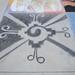 Drawing at Broome Library's 2008 Artwalk