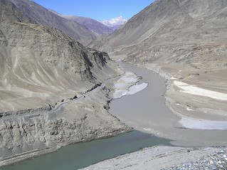 The confluence of Rivers Indus and Zanskar, Ladakh, India | by Krisnendu Sar