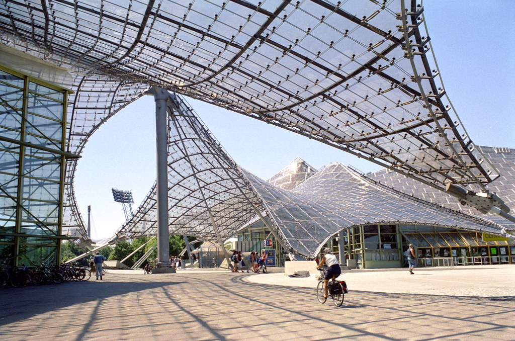 Munich Olympic Park Plaza With Canopies Addison Godel
