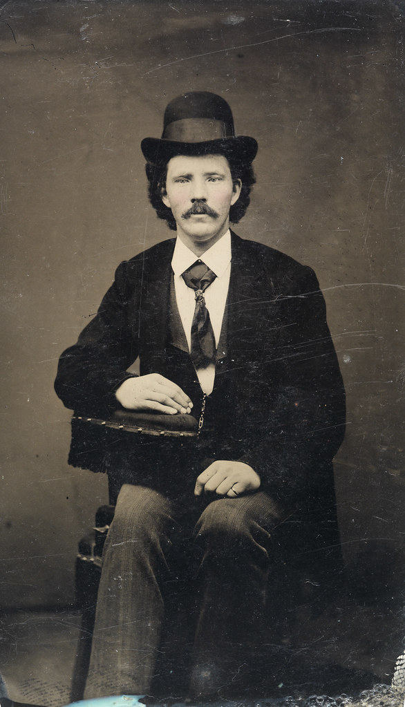 Seated Man With Bowler Hat Ca 1856 1900 Sfff 100499