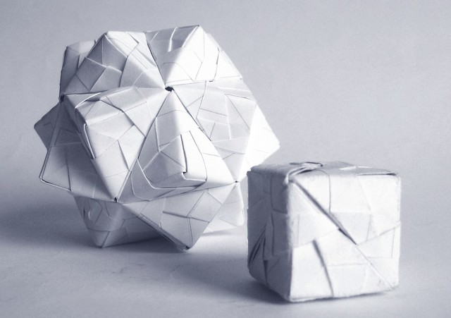 Origami Open Cube 3D - YouTube | 352x500