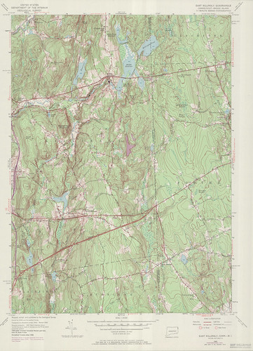 East Killingly Quadrangle 1970 - USGS Topographic 1:24,000 | by uconnlibrariesmagic