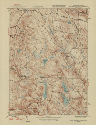 South Sandisfield Quadrangle 1948 - USGS Topographic Map 1:31,680 | by uconnlibrariesmagic