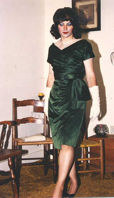 1957 Green Satin Custom Dress This Dress Belonged To The