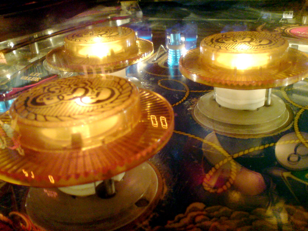 Pinball Bumpers | Bumpers on a pinball machine. I like the ...