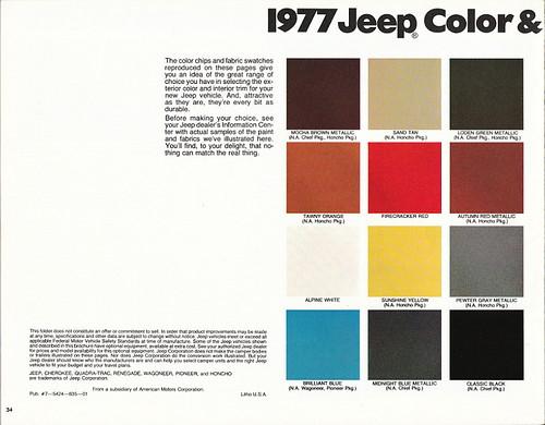 Jeep Paint Colors