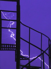 †hunderstorm stairs silhouette | by Fer Gregory