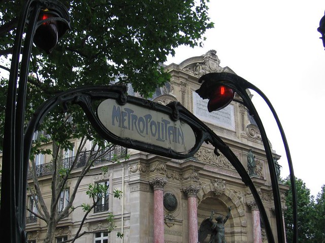 0166 saint michel metro entrance paris metro jasperdo flickr - Metro saint michel paris ...