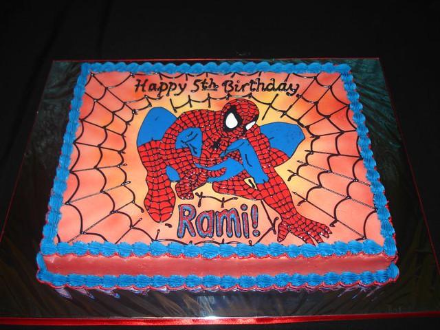 Spiderman Birthday Cake Hand Decorated Spiderman Image On Flickr