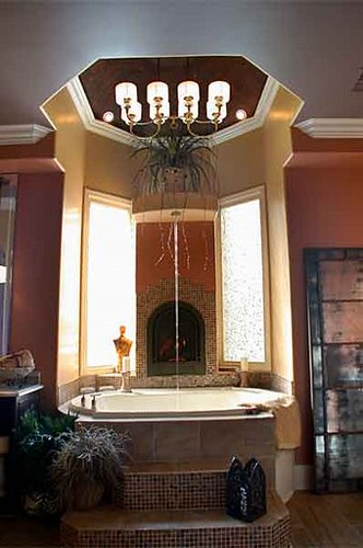 Master Bathroom Ceiling Faucet The Focal Point Of The