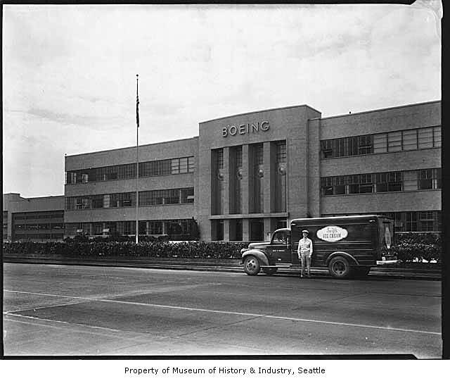 Swift's Ice Cream truck outside Boeing building, Seattle ...