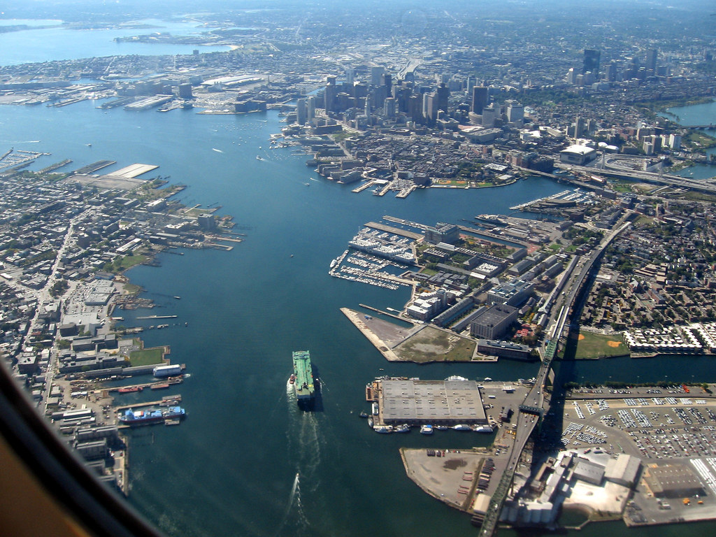 Astswmo 0907 004 300 Aerial View Of Boston Harbor From