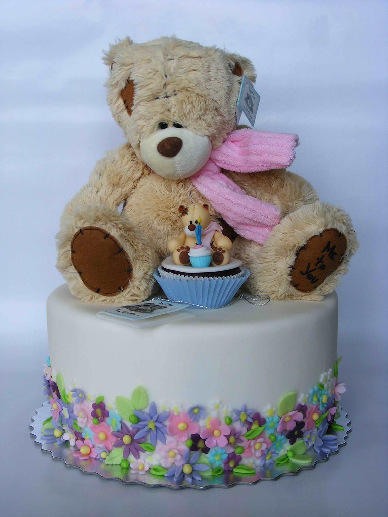 Download Teddy Bear With Cake Images : Teddy bear cake Happy 4th Birthday, Ivaila! More ...