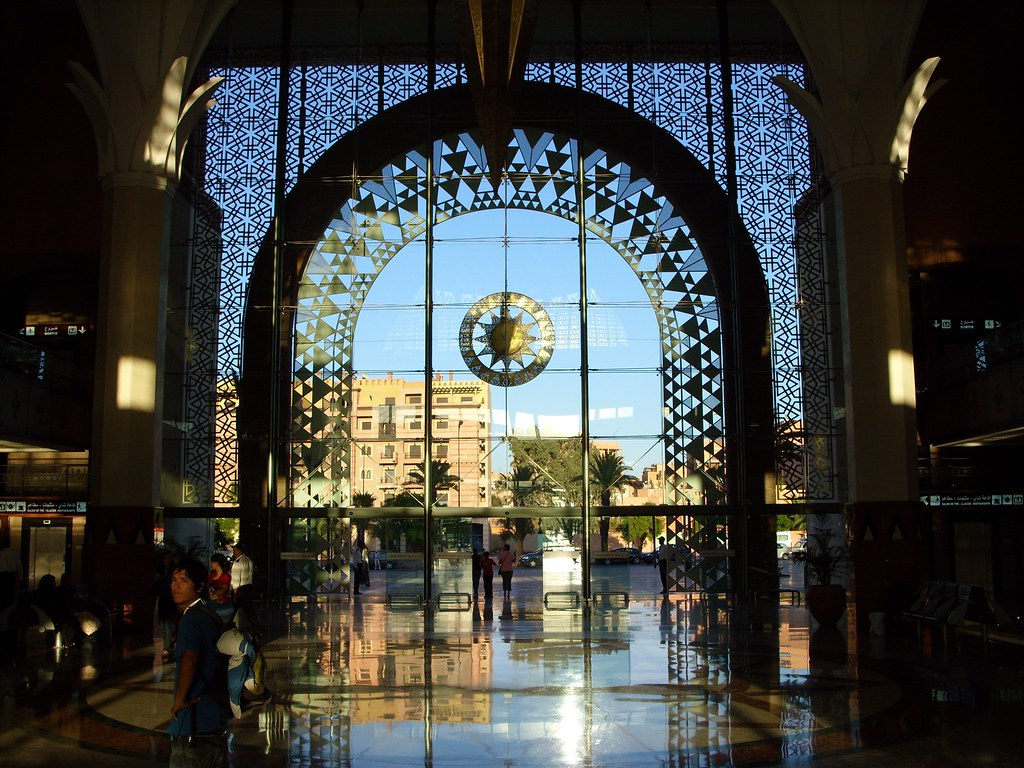 Marrakech Train Station Shortly Before Sunset The Sun