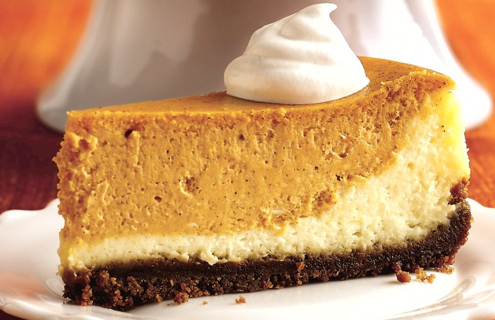 Layered Pumpkin Cheesecake Recipe | INGREDIENTS: Crust: 2 ...
