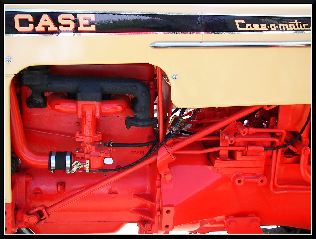 Case 530 Farm Tractor : Side of a case tractor