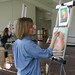 Student painting in Art Complex