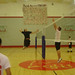 Students Playing a Game of Volleyball