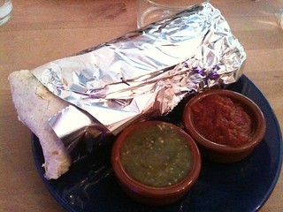 "Rice & Beans: Grilled vegetable ""El Super"" burrito 