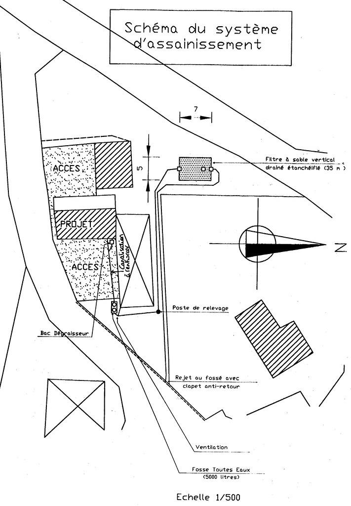 new fosse plan plan for our new fosse septique septic tan flickr. Black Bedroom Furniture Sets. Home Design Ideas