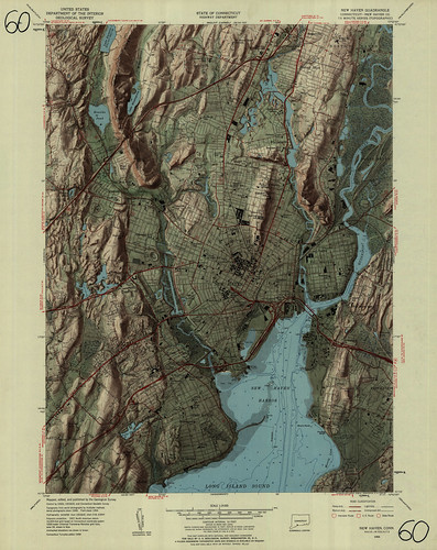 New Haven Quadrangle 1954 - USGS Topographic Map 1:24,000 | by uconnlibrariesmagic