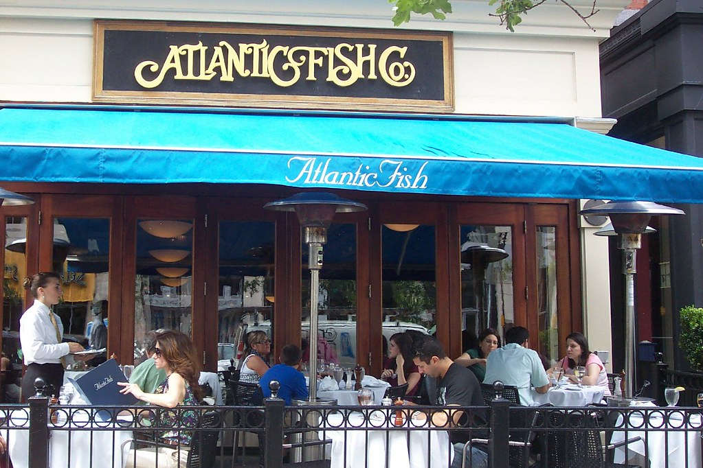 Atlantic fish best outdoor seating in back bay for Atlantic fish co