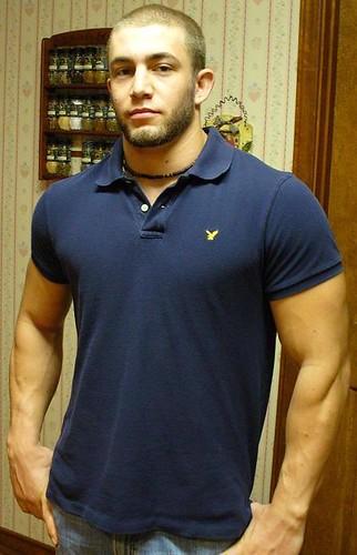 Blue polo shirt explore celebmuscle 39 s photos on flickr for Buff dudes t shirt