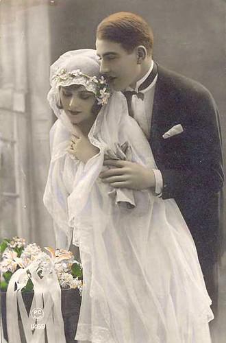 Vintage Wedding Postcard So Romantic