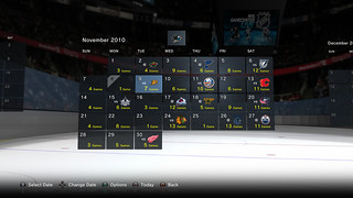 NHL GameCenter PS3 - Calendar with Sharks favorite team | by PlayStation.Blog