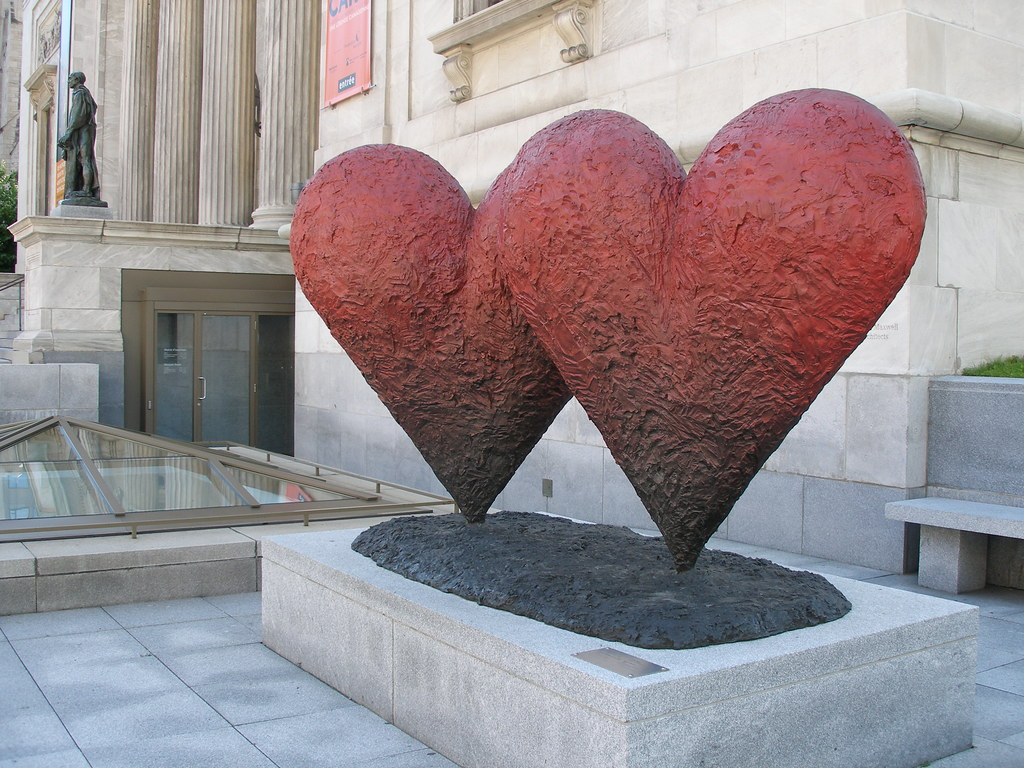 Jim Dine (°1935), Twin 6' Hearts ♥ | ... and Jean d'Aire ...