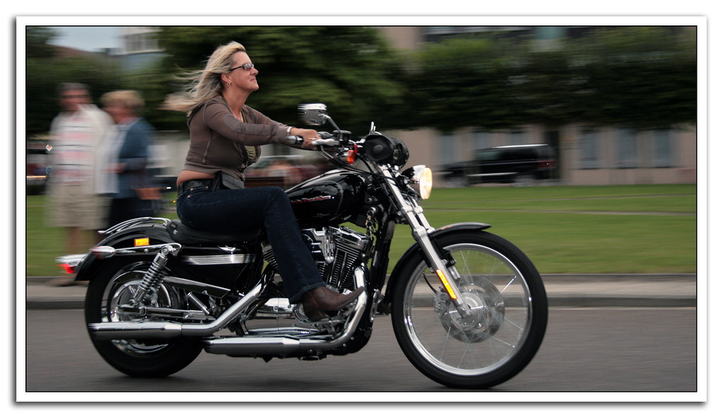 Woman Riding A Harley   Air Is An Airfreshener -6368