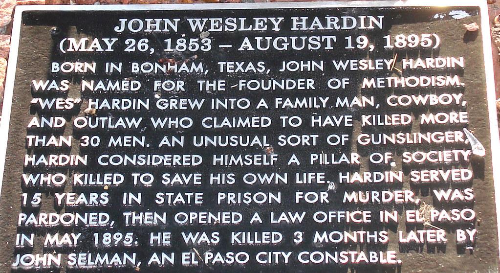 John Wesley Hardin Gra...