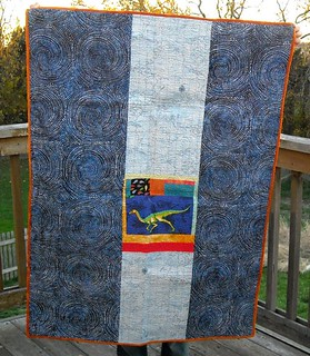 dino quilt back | by vickivictoria